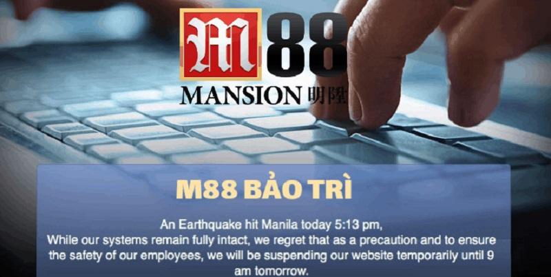 Nhà cái bảo trì để thêm tính năng mới vào website của M88